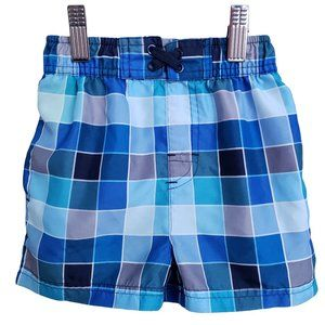 Blue Patterned Swim Trunk 12-18 mths